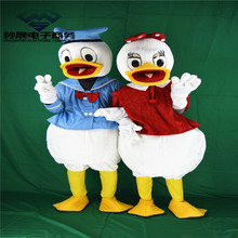 High Quality Donald Duck Adult plush mascot costume for festive & party supplies disfraces fancy dress anime cosplay(China)