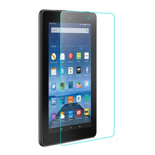 9H 2.5D Tempered Glass Screen Protector Film For Amazon Kindle Fire 7 2015 + Alcohol Cloth + Dust Absorber(China)