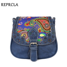 National style women messenger bags vintage shoulder bag PU leather leopard ladies crossbody 9 colors A395(China)