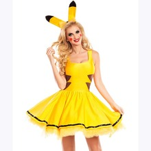 2016 Sexy Halloween Costumes For Women Cosplay Yellow Animal Costumes for Halloween cosplay Yellow Cartoon Costumes for women(China)