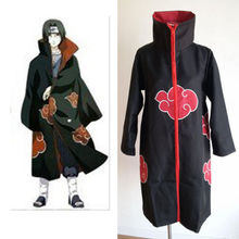Free shipping Naruto costumes Uchiha Sasuke Akatsuki Cloak With Hat Men&Women Cosplay Costume