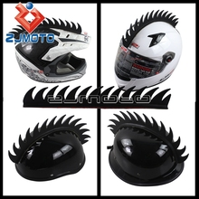1x Motorcycle Helmet Sticker Dirt Biker BMX Mohawk Biker Helmets Mohawks Spikes Rubber(China)