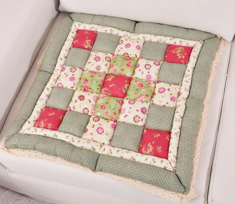 Foreign Trade Garden Patchwork Style Chair Cushion Quilting Fabric Steamed Buns Dining China