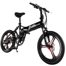 "20"" 48V 240W 7 Speed Folding Electric Bicycle, Electric Mountain Bike, E bike, Front & Rear Double Damping, Lithium Battery"