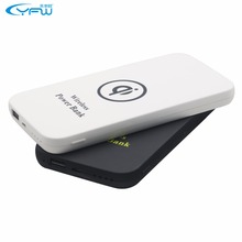 New 6000mAh Wireless Charger Fast Rechargeable Battery Qi Power Bank USB Charging Pad Powerbank For Cell Phones(China)