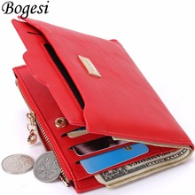 with Coin Bag zipper new 2017 women wallets brand purses female thin wallet passport holder ID Card Case(China)