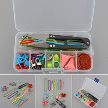 Practical Home DIY Knitting Tools Crochet Yarn Hook Stitch Weave Accessories Supplies With Case Box Knit Kit Brand Practical