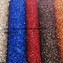 2pcs 21x29cm Chunky Glitter Leather PU Leather for Christmas DIY accessories 5S07(China)