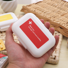 8 Cells Portable Small Medication Storage Boxes Plastic Folding Medicine Container for Drugs Pill Vitamin(China)