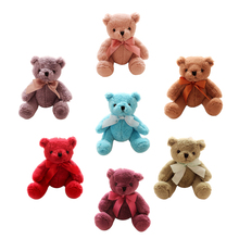 1pcs New hot 20 cm colorful teddy bear plush toy for Girl Children's Baby Birthday Gift Send Kids Lovely Soft Toy 7 colors(China)