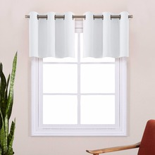 NICETOWN Energy Smart Thermal Insulated Blackout Grommet Curtain Panel for Kitchen Half Window / Tier / Valance