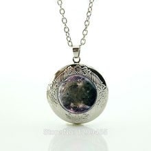 Charms Ganymede Moon Necklace Jupiter Outer Space Solar System Science Astronomy Art Pendant Wholesale locket pendant N665(China)