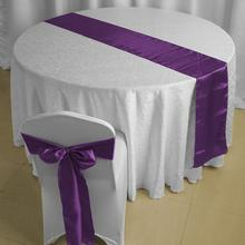 Promotional  Satin Table Runner  Wedding Party Banquet Decoration on Sale Gift