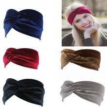 Velvet Twist Head Band Female Earmuffs Ear Warmers Scrunchy Twist Hair Clip Turban Headband Bandana Head Bandage Hair Accessorie(China)