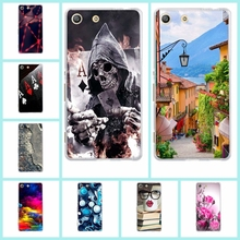 Buy Painted Case Sony Xperia M5 E5603 E5606 E5653 Soft Tpu Protective Phone Shell Back Cover Sony Xperia M5 Dual Phone Bag for $1.05 in AliExpress store