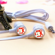 Anime Cute Cartoon Ali Fox Cat Emoticon In-ear Earphone 3.5mm Stereo Earbuds Phone Music Game Headset for Iphone Samsung MP3 MP4