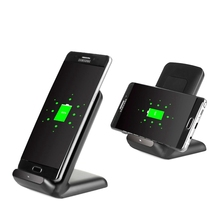 Portable Qi Wireless Charger Adapter Dock Bracket Power Fast Charging Stand Holder Charger For Samsung S7 Edge Mobile Phones
