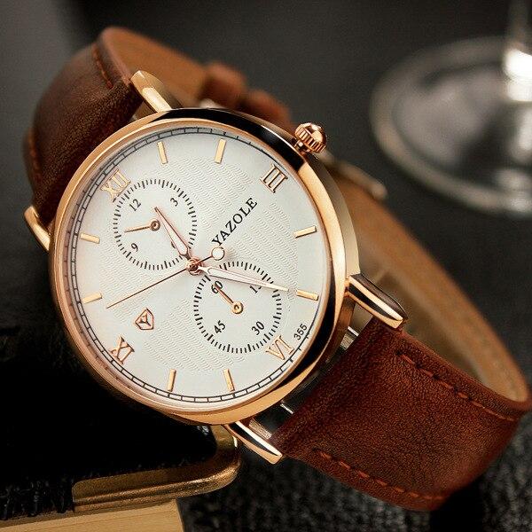 Yazole Men Watches 2017 Top Selling Fashion Male Clock Rose Gold Quartz Watch Men Business Wristwatch Relogio Masculino<br><br>Aliexpress