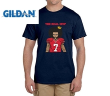Customized Tee The Real MVP Colin Kaepernick funny t shirts Mens 7 Fashion T-shirts for 49ers fans(China)