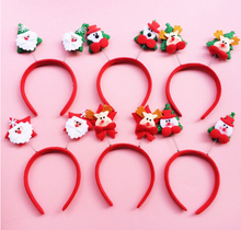 10Pc/Lot Merry Christmas Hairband Hair Hoop Accessories Happy Santa Headband For Women Kids Ornament Supplier Random Deliver(China)