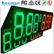 "leeman 10inch 12"" High Quality 8 - Inch -Digits Outdoor led gas price sign digital display Remote control 10 inch led gas"