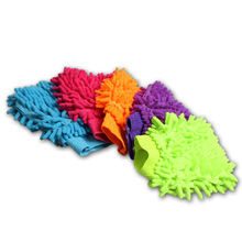 Chenille Car Wash Gloves,Double-sided  Auto Cleaning Cloth Gloves,Microfiber Hand Car Wash Supplies,#K0041