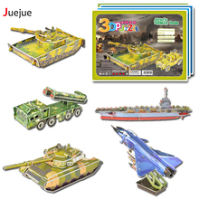 DIY 3D Paper Armaments Fighter Helicopters Space Shuttle Puzzles Toys Model Craft Kits Gifts for Kids(China)