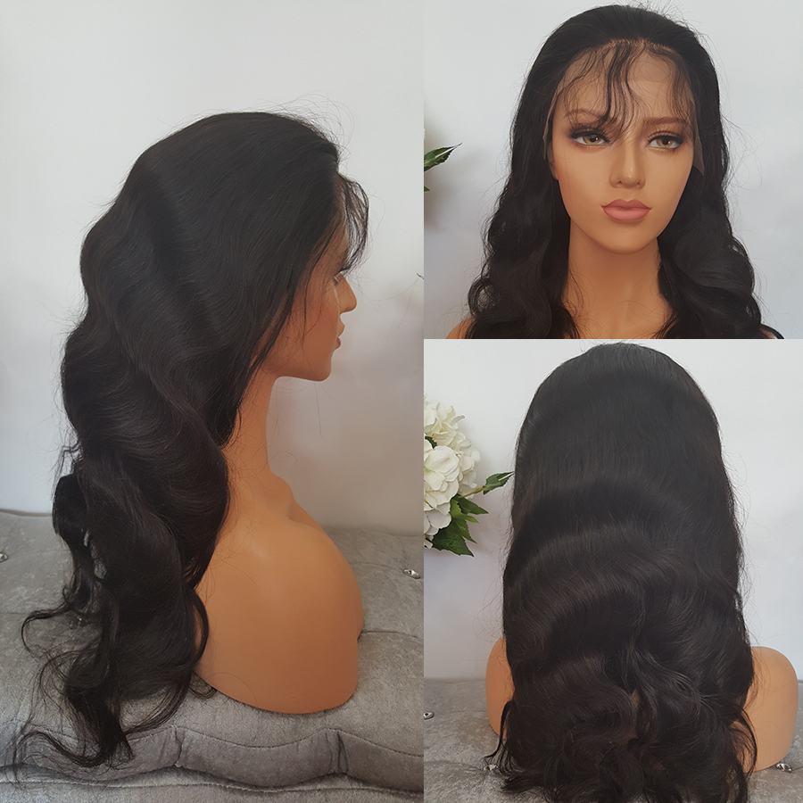 SHUMEIDA 130% Peruvian Lace Front Human Hair Wigs For Black Women Body Wave Lace Front Wig Remy Hair Average Cap Women Wigs (5)