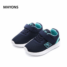 Buy MHYONS Mesh children shoes 2017 fall new breathable net kids running shoes non slip boys girls casual sports shoes for $9.51 in AliExpress store
