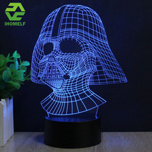 Star Wars Lamp Darth Vader Anakin Skywalker 3D Lamp BB-8 LED Novelty Night Lights USB Light Glowing Child's Gift HUI YUAN Brand