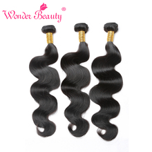 Wonder Beauty Hair Brazilian Body Wave Remy Hair Bundles Natural Color 100% Human Hair Weaving 10-26 inch Free Shipping