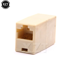 Hot 50pcs/lot RJ45 Cat5 8P8C Socket Connector Coupler For Extension Broadband Ethernet Network LAN Cable Joiner Extender Plug(China)
