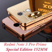 Buy Xiaomi Redmi Note 3 Pro Prime Special Edition Case Bling Metal Aluminum Frame Mirror Acrylic Back Cover Phone Cases 152MM SE for $1.69 in AliExpress store