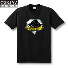 SexeMara Casual Metal Gear Solid V 5 The Phantom Pain Diamond Dogs Logo T-shirts Print Cotton Short Sleeve Tops Tee Shirts(China)