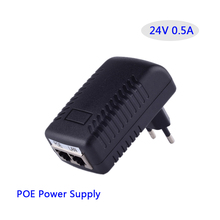 24V 0.5A POE Adapter LAN Ethernet power supply 24V500mA Switch Power Adapter POE wireless AP bridge power supply.EU Plug