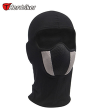 HEROBIKER motorcycle face mask outdoor moto hood ski sport neck mask windproof Dustproof warm mask Red And Gray Men's or women's(China)