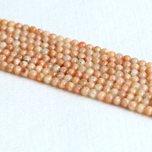 "Real Genuine Natural Orangle Gold South Africa Sunstone Round Loose Gemstone Ball Beads 4mm 6mm 10mm 12mm 14mm 15"" 05013(China)"