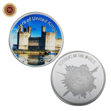 WR UK Famous Building Silver Plated Coin Home Decor Caernarfon Castle Commemorative Coin United Kingdom Silver Coin(China)