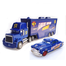 Pixar Cars No.51 Mack Truck & Fabulous Hudson Hornet Metal Toy Car For Children 1:55 Loose Brand New In Stock Free Shipping