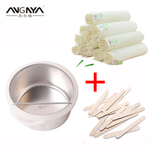 Warmer Wax Heater Pot Hair Remover Paraffin Wax Machine Depilatory+20*Disposable Sticks+10*Dedicated Bamboo Wash Pot Towel