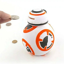 High Quality Fashion Unique Star Wars Robot Shape Piggy Bank Coin Penny Cent Money Cash Saving Safe Box Storage Tank for Kid Toy(China)