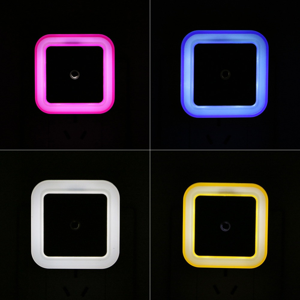 SuperNight Square AC LED Night Light Intelligent light control Sensor Home Decor Wall Lamp Corridor Stairs Bedroom Bedside Lamp (13)