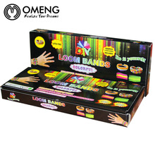 OMENG Silicone 560pcs Loom Rubber Bands Bracelet Making Kit Refill + 1x Loom Tool + 20x S Clips DIY Carft Wholesale OSL206(China)