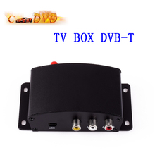 New Universal Car Auto TV Box DVB-T DVB T Box Black Color Free Shipping(China)