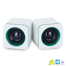 Universal White green Mini  Active Subwoofer Small Speakers IMP-823 Desktop Computer laptop Tablet PC Notebook Stereo Speakers
