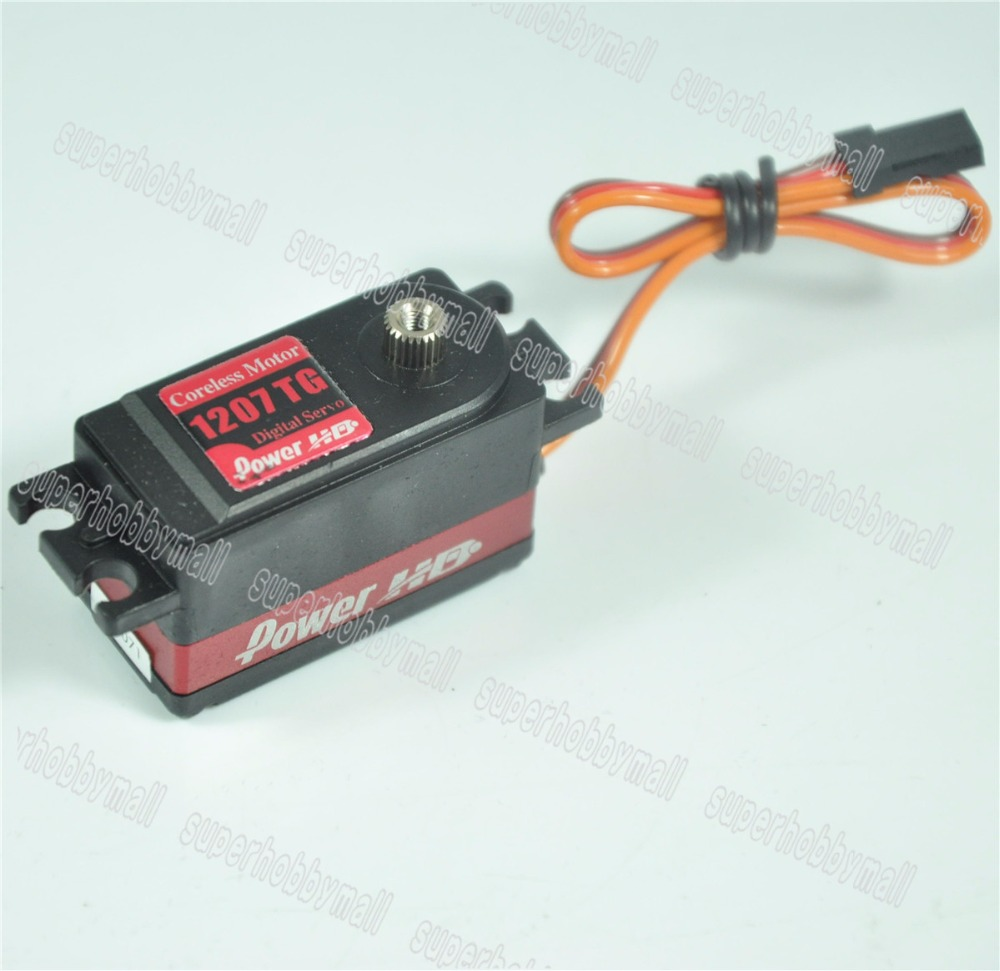 Power HD 1207TG Standard Low Profile Digital Coreless High Speed Servo For RC Airplane<br>