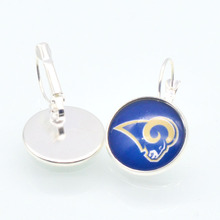 ST Louis Rams  Sports Charms 20mm 12mm Glass Cabochon Earings French Hook Earrings for Women Football Fans