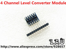 20pcs/lot 5V-3V IIC UART SPI Four Channel Level Converter Module for Arduino Free Shipping via China Post
