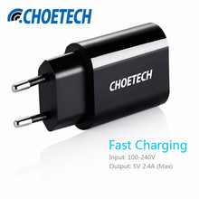 CHOE Universal USB Charger 12W Travel Wall Charger Adapter Smart Mobile Phone Charger for iPhone Samsung Xiaomi HTC iPad Tablets