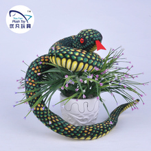 2016 New arrival emulational soft toy snake plush animal stuffed snake toy for children(China)